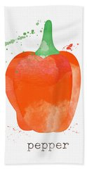 Orange Bell Pepper  Beach Towel