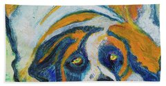 Orange Bernard Beach Towel