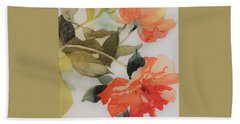 Orange Blossom Special Beach Sheet by Elizabeth Carr