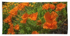 Orange Burst Beach Towel