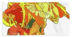 Orange Canna Beach Towel