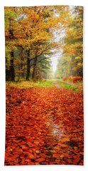 Beach Towel featuring the photograph Orange Carpet by Dmytro Korol