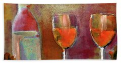 Orange Champagne By Lisa Kaiser Beach Towel