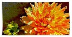 Orange Dahlia Beach Sheet