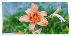 Beach Towel featuring the photograph Orange Daylily by D K Wall