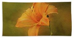 Orange Daylily Beach Towel