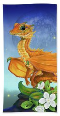 Orange Dragon Beach Towel