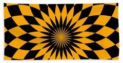 Beach Towel featuring the digital art Orange Energy by Lucia Sirna