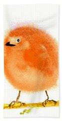 Orange Fluff Beach Towel