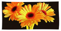 Orange Gerbera's Beach Sheet