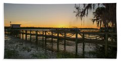 Florida - St Johns River Sunset Beach Sheet by John Black