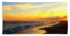 Orange Glow Sunset Beach Towel