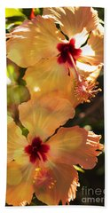 Orange Hibiscus Beach Sheet