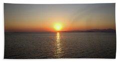 Orange Horizon Beach Towel