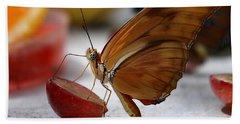 Orange Julia Butterfly Beach Towel