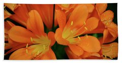 Orange Lilies No. 1-1 Beach Towel