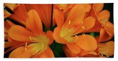 Orange Lilies No. 1-1 Beach Sheet