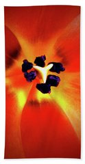 Orange Orchid Beach Towel