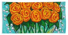 Orange Passion Beach Towel
