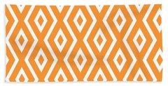 Peach Pattern Beach Towel