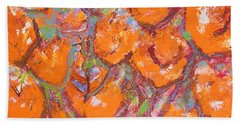 Orange Poppies Beach Sheet