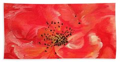 Orange Rose Beach Towel by Sheron Petrie