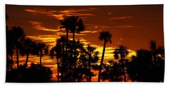 Orange Skies Beach Towel