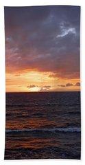 Orange Sky Beach Towel