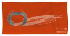 Orange Stair 46 And It Negative Shadow Beach Towel