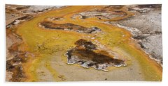 Orange Stream Beach Towel