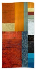 Beach Sheet featuring the painting Orange Study With Compliments 1.0 by Michelle Calkins