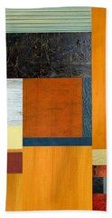 Orange Study With Compliments 2.0 Beach Towel by Michelle Calkins