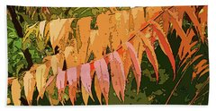 Beach Towel featuring the photograph Orange Sumac by Betsy Zimmerli