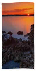Orange Sunrise Beach Sheet
