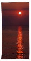 Orange Sunrise Beach Towel