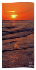 Orange Sunset Beach Towel