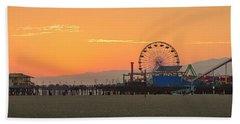 Orange Sunset - Panorama Beach Towel