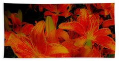 Spicey Tiger Lilies Beach Towel