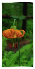 Beach Towel featuring the photograph Orange Tiger Lily by Tikvah's Hope