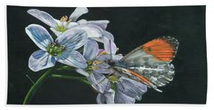 Orange Tip  Beach Towel
