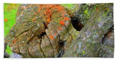 Orange Tree Stump Beach Towel