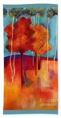 Orange Trees Beach Towel by Elizabeth Fontaine-Barr