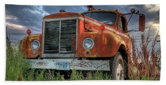 Orange Truck Beach Sheet