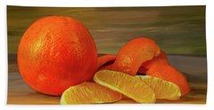 Oranges 01 Beach Sheet by Wally Hampton