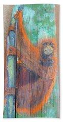 Orangutan Beach Sheet by Ann Michelle Swadener