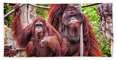 Orangutan Couple Beach Sheet