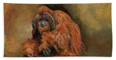 Orangutan Monkey Beach Towel