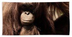 Orangutan Pose Beach Towel