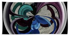 Orb Lineup Beach Towel by Judy Wolinsky