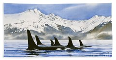 Orca Beach Towel by James Williamson